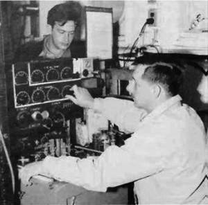 A.Bradshaw and K.Schleicher operating their salinometer